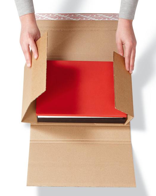 Buchverpackung-Drehfix-Klappen