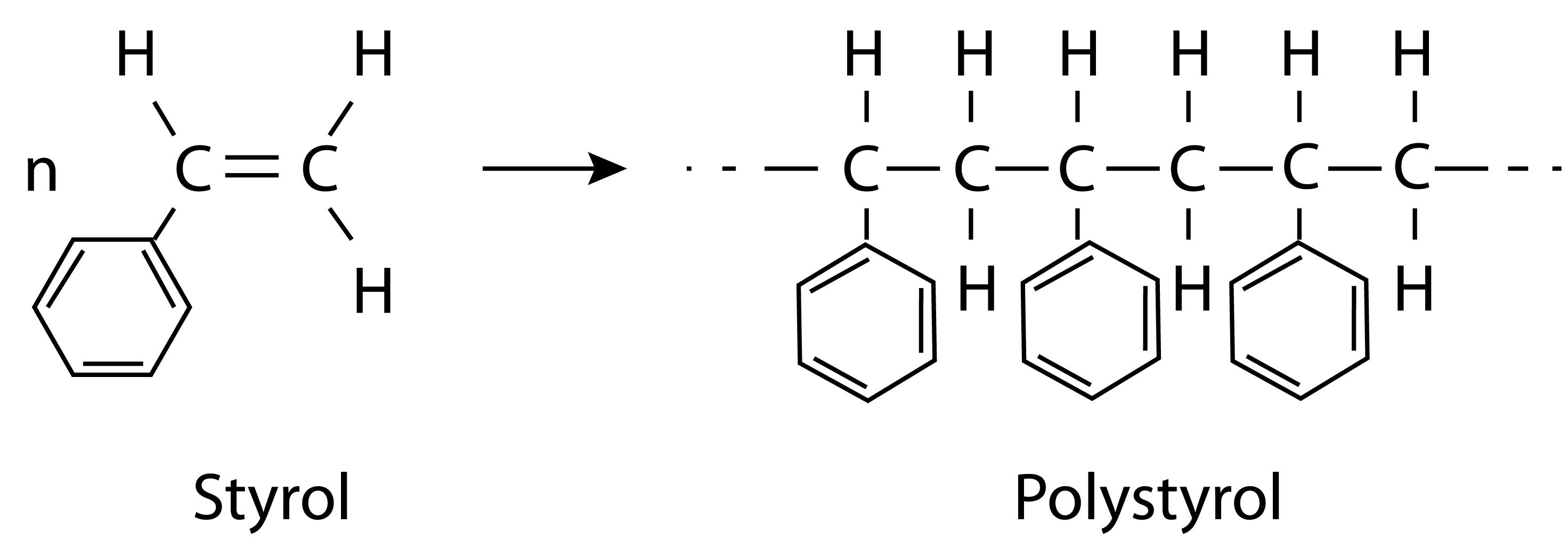 Entstehung Polystyrol